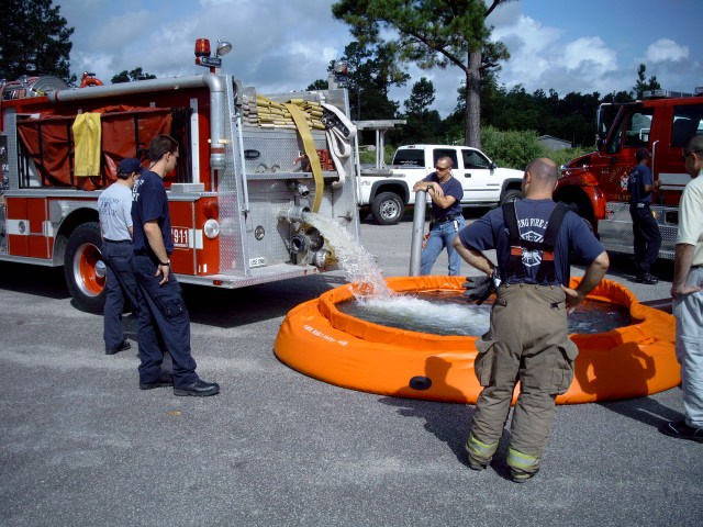 Horry County Fire Rescue evaluated the new self supporting tank by